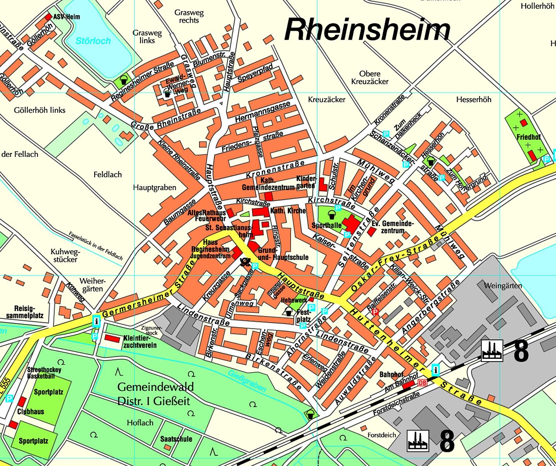 Stadtplan zum Downloaden - Stadt Philippsburg